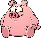 Pig Clipart Illustrations. 19,094 pig clip art vector EPS drawings ...