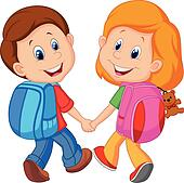 Image result for children with backpacks clipart