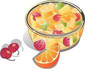 Clip Art of Tropical Fruit Salad 2 tropical-fruit-salad-2 ...